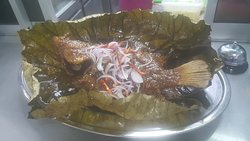 Lotus leaf Tilapia Fish