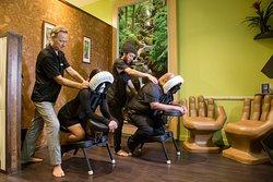 Quick chair massage!