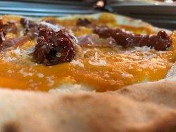 Crema di zucca ,pomodoro secco e formaggio pecorino