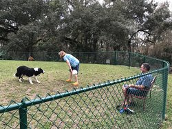 We are pet friendly and offer a dog park and natural trail.