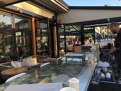 Morimoto's outdoor bar