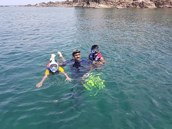 Not only elders, but also kids can be taken for snorkeling with us, we've got all relevant equipment, with special Full-Face mask for easy snorkeling!!