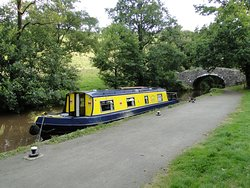 Moored above the locks