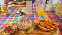 burger poulet boucané