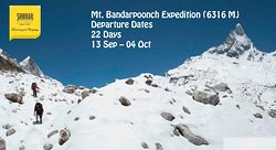 Mt. Bandarpoonch Expedition (6316 M) is one of the most beautiful mountains in the india,world.Mount Bandarpoonch Expedition is reckoned to be one of the most challenging peaks in Uttarakhand Himalaya. It is one of the most stunning peaks to be climbed. https://www.shikhar.com/mt-bandarpoonch-expedition-61316-m-sti358