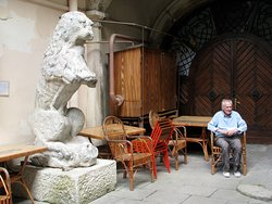 Two old lions in the Venice Palace - 2008