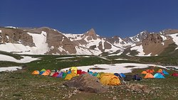 Hesarchal Camp (3800m), Alamkuh South Face, the second highest peak in Iran