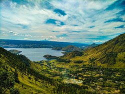 Best View from up the hill on Samosir island. Let's planning your holiday in Lake Toba Samosir Island.