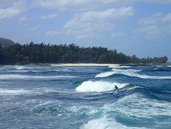 Caroline's first surf lesson!