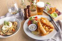 Fish and Chips, Seafood Spaghetti