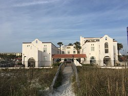 This was taken from the beach front looking back at the hotel.  Charming!