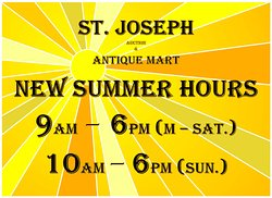 NEW SUMMER HRS. Join us bright and early for a fresh cup of coffee and hunt for some great finds!