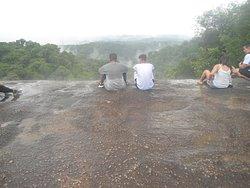 Topo da pedra grande, na hora que começou a chuva