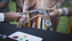 Learn about Aboriginal Arts and paint your own souvenir Boomerang...