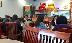 Recently taken of diners enjoying an extensive menu of choices at the Congee Noodle King Restaurant in Vancouver on 33`3 Kingsway.