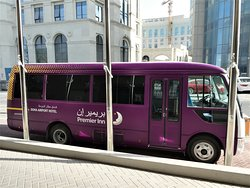 the hotels shuttle bus