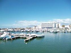 """A view of the """"Marina de Faro""""."""
