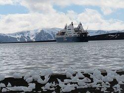 Our ship, the Ocean Diamond