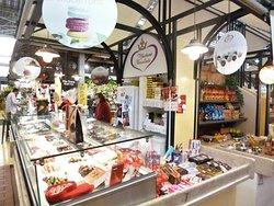 """Another corner of """"Mercado de Campo de Ourique"""" in Lisbon."""