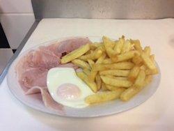 Boiled Bacon, Egg & Chips