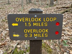 Sign for hiking trails.