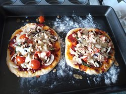 The pizza base can be used for other breads and I have attempted a rather poor naan - this has encouraged me to try more