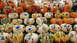 Abóboras no Mercado para o Halloween