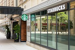 Starbucks conveniently located from Hotel Lobby