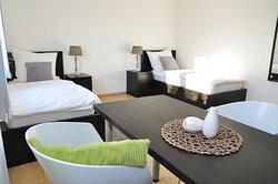 Doppelzimmer 2 mit Einzelbetten zum Zusammenschieben