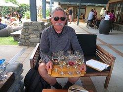 Flight of seven wines for $10 NZ