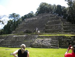 Lamanai Mayan ruins. One of multiple temples to see on-site.