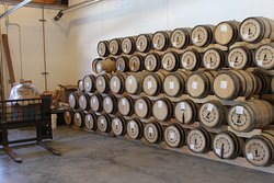 Loading barrels into our new production building, right next door to our current tasting room!