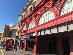 London Kings Cross Station, the tube and a couple of shops hiding the entrance to Diagon Alley.