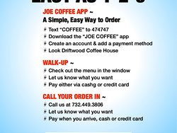 We have three easy ways for you to order. Online, in person or over the phone. Check out our menu at  DriftwoodCoffeeHouse.com   #DriftwoodCoffeeHouse #CoffeeMakesTheWorldGoAround #LoveSpringLake