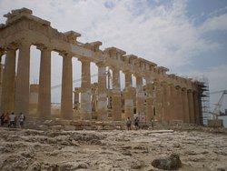 fachada lateral del Partenón