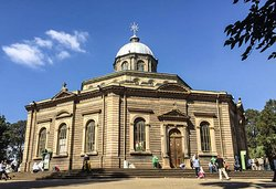 Famous St George Cathedral, where His Imperial majesty Haileselasie's coronation took place.