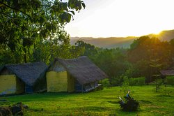 Tukul styled rooms at Eco Omo Lodge in Jinka, center of Omo valley expeditions.