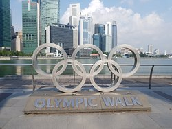 The Olympic Walk @ Marina Bay in Singapore.