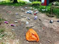 Disgusting how people are treating this park at the moment. Take YOUR rubbish home with you.