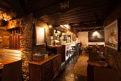 The traditional pub bar.