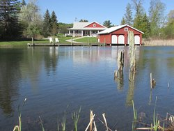 We are located on the Narrows, a channel of water connecting North and South Lake Leelanau.