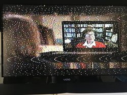 Yup, the reception on our TV was this...