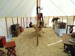 outside - inside an officers tent