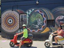 More street art. It looks just like a mosaic tile!