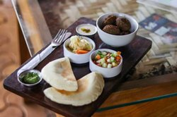 One of our favourites; the Falafel Plate