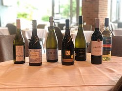 Some of the wines we have available here at Psari