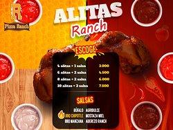 Alitas Ranch 🍗🍗🍗  Para los amantes de las alitas pídelas con nuestra variedad en salsas 😋👌  🍖Bufalo 🔥BBQ Chipote  🍎BBQ Manzana 💥Agridulce 🍯Mostaza miel 🌵Aderezo Ranch