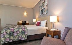 Queen single room sleeping up to 3 guests