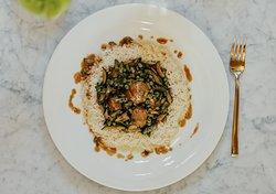 Polpette di vitellone marchigiano IGP in bianco con verdure e riso pilaw