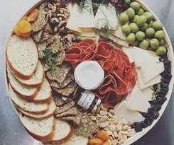 Cheese platters and grazing table catering available.